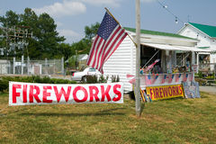 Fireworks stand on route 29 Stock Photography