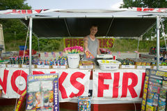 Fireworks stand on route 29 in rural Virginia Royalty Free Stock Images