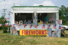 Fireworks stand on route 29 in rural Virginia Stock Photos