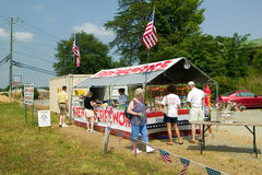 Fireworks stand on route 29 in rural Virginia Stock Image