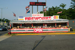 Fireworks stand on route 29 in rural Virginia Stock Images