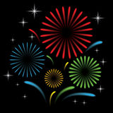 Fireworks with star Stock Image