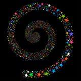Fireworks Star Spiral Royalty Free Stock Image