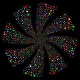 Fireworks Star Twirl Royalty Free Stock Photo