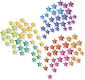 Fireworks stars. Simple multicoloured fireworks stars illustration Stock Image