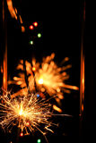 Fireworks Stars and Sparklers Royalty Free Stock Photos