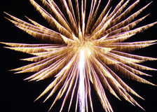 Fireworks. Starting and beautiful fireworks across the darkened sky Royalty Free Stock Photos