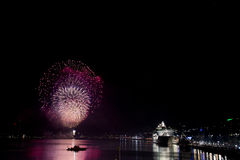 Fireworks in stockholm sweden Stock Photography