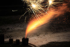 Fireworks on the street Stock Photos