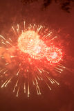 Fireworks. Super night city fireworks background Stock Photos