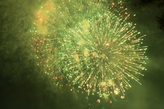 Fireworks. Super night city fireworks background Royalty Free Stock Photos