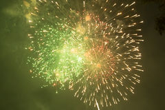 Fireworks. Super night city fireworks background Stock Photography