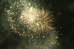 Fireworks. Super night city fireworks background Royalty Free Stock Photography