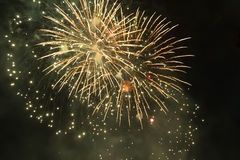 Fireworks. Super night city fireworks background Royalty Free Stock Images
