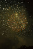 Fireworks. Super night city fireworks background Royalty Free Stock Photo