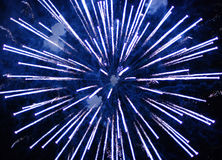 Fireworks Supernova. Large fireworks explosion captured from an elevated position matching the explosion height Stock Photography
