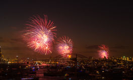Fireworks Sydney new years eve 2013. Fireworks for celebrate 2013 in new years eve from Sydney, Australia royalty free stock photo