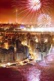 Fireworks of Taipei city Stock Photo