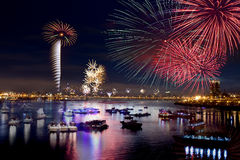 Fireworks of Taipei city Royalty Free Stock Photos