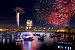 Fireworks of Taipei city Royalty Free Stock Photos