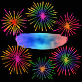 Fireworks with text place Royalty Free Stock Photography