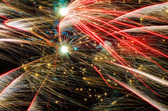 Fireworks texture wallpaper trails Royalty Free Stock Photo