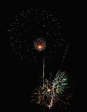 Fireworks. On the 4th of July Stock Image