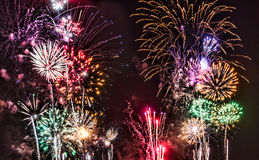 Fireworks. From a 4th of July celebration in Tempe, Arizona Royalty Free Stock Image