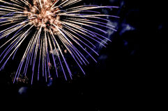 Fireworks on 4th of July Holiday. Exploding fireworks on 4th of July Holiday against a black sky Stock Photography