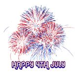 Fireworks, 4th of july vector. Design illustration Stock Photos