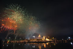 Fireworks,Thailand. Fireworks,Celebrate King Birthday,Thailand Royalty Free Stock Image
