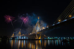 Fireworks in thailand Royalty Free Stock Photos