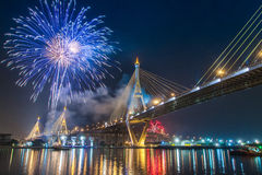Fireworks in thailand Royalty Free Stock Images