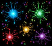 Fireworks theme image 2 Royalty Free Stock Images