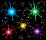 Fireworks theme image 2. Eps10 vector illustration Royalty Free Stock Images