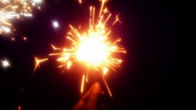 Fireworks. At the time celebration of diwali Stock Photo