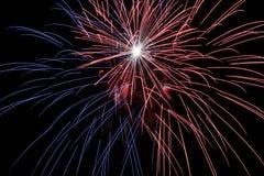 Fireworks Time Exposure #5 Stock Photo
