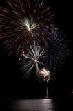 Fireworks. To celebrate the arrival of the new year or Thanksgiving day Royalty Free Stock Image