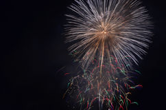 Fireworks. To the sky at night Royalty Free Stock Image