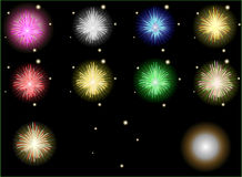 Fireworks totally Editable. Allowing you to rearange it as you want Stock Photos
