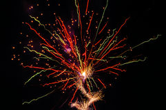 Fireworks trails abstract colours Stock Image