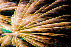 Fireworks trails colors Royalty Free Stock Images