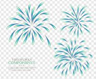 Fireworks  transparent background. Separate Royalty Free Stock Photos