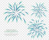 Fireworks  transparent background Royalty Free Stock Photos