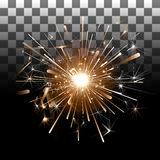 Fireworks on a transparent background. Sparkler on a transparent background Stock Images