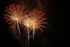 Fireworks Trio Royalty Free Stock Images