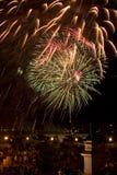 Fireworks Twelve. Fireworks at night in St. Augustine, FL Twelve stock photo