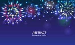 Fireworks on twilight background . Firework new year holi. Day celebration Royalty Free Stock Images