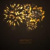 Fireworks on twilight background vector. Firework new year holi. Day celebration Stock Images
