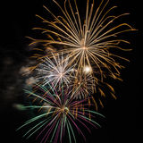 Fireworks. Up in the sky Stock Photography